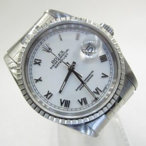 Rolex Datejust 16220 White Roman(Pre-Owned Rolex Watch)RL-370