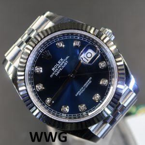 Rolex Datejust 2 41 126334 Blue Dial With 10 Diamond Index(New Rolex Watch)RL-535 (Cash Price)