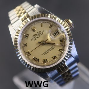 Rolex Ladies Datejust 69173 Champagne Dial (Pre Owned Rolex Watch)RL-588 *Sold*