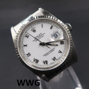 Rolex Oyster Perpetual Datejust 16234 White Dial(Pre Owned Rolex Watch)RL-622