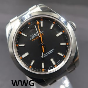 Rolex Milgauss 116400 Black Dial (Pre Owned Rolex Watch)RL-646
